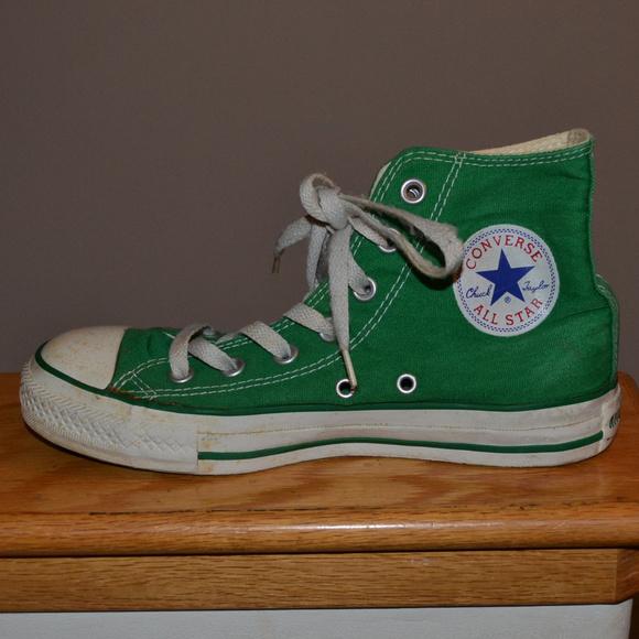 ef7a0e92e13e Converse Shoes - Kelly Green Hi Top All Star Converse sz 7 Chuck